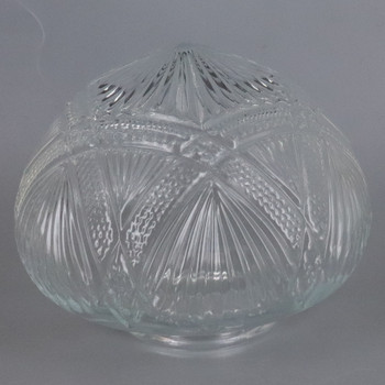 4in Fitter Clear Beaded Rose Glass Shade