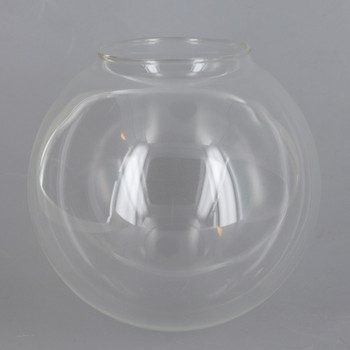 4in Diameter Clear Neckless Globe with 2in Hole