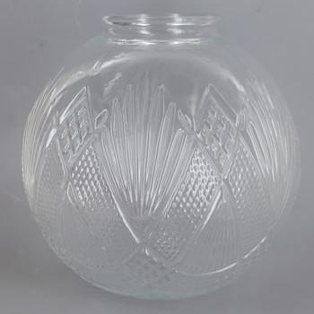 3-1/4in Fitter Clear 7in Diameter Clear Geometric Globe Glass Shade