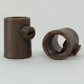 1/8ips Female Threaded Plastic Strain Relief and Nylon  Set Screw - Gold