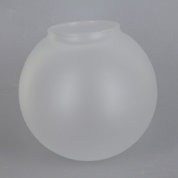 4in Diameter Frosted Neckless Globe with 2in Hole