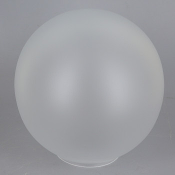 5in Diameter Frosted Neckless Ball With 2in Hole