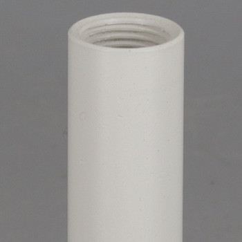 12in. White Powder Coated Steel Pipe with 1/8ips. Female Thread