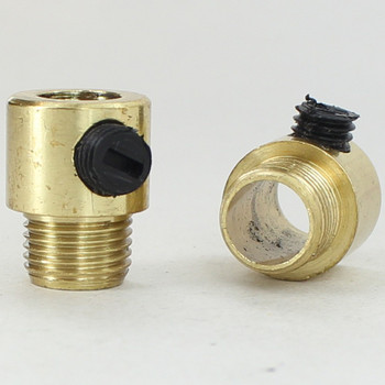 1/8ips. Male Threaded Strain Relief with Nylon Set Screw - Polished Brass