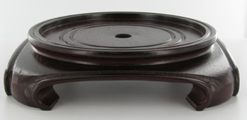 3-1/2in. Recessed Seat - 4 Feet - Square Shaped Bottom - Mahogany