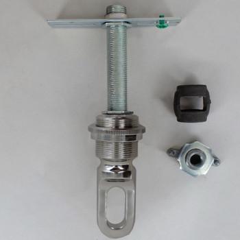 Heavy Duty - 1-13/32in Hole Canopy Chain Hanging Screw Collar Loop Cross Bar Set - Polished Nickel