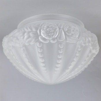 8in Fitter Frosted Beaded Floral Bud Shade