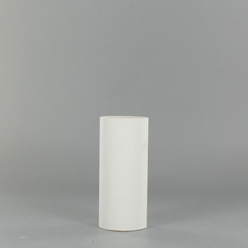 2in. Long X 1.3in. Outside Diameter Paper E-26 Base Candle Socket Cover - Edison - White.