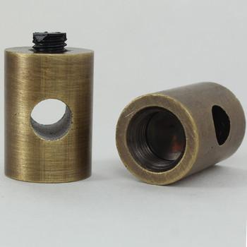 1/8ips Female Threaded Swag Light Cord Bushing for SVT Type Wire - Antique Brass