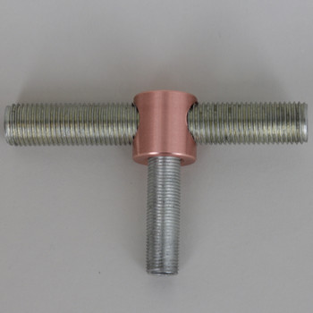 1/8F Bottom X 1/4 SL Side X 1/4 SL Side - Tee Fitting - 3/4in X 3/4in Straight Armback - Unfinished Copper