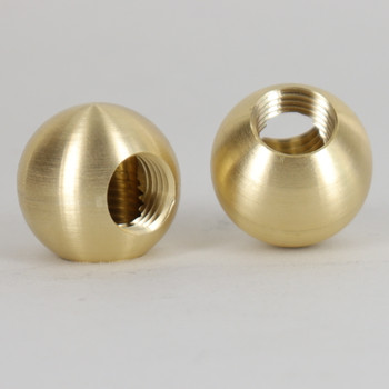 1/4ips Threaded - 1 in Diameter 90 Degree Ball Armback - Unfinished Brass