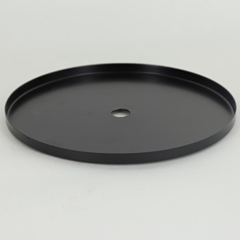 5 In. Diameter Stamped Brass Straight Edge Checkring - 0.32 THICK MATERIAL -Black Finish