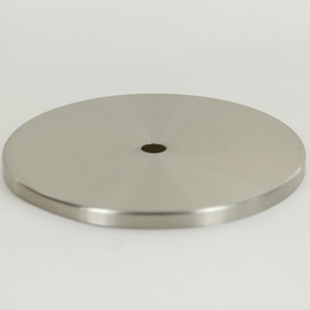 5 In. Diameter Stamped Brass Straight Edge Checkring - 0.32 THICK MATERIAL - Brushed/ Satin Nickel Finish