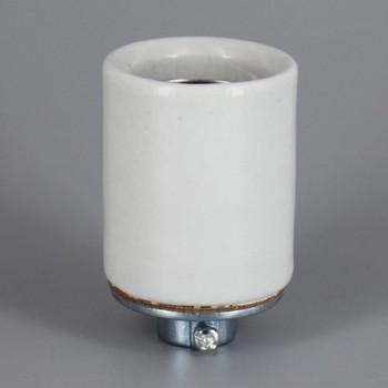 E-26 Base Porcelain Keyless Socket with Screw Terminals. 1/4-18ips. Female Die-Cast Cap with Set Screw. 660W 125V/250V