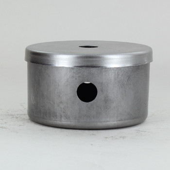2-1/2in Diameter X 1-1/2in Height 2 Side Hole Unfinished Steel Body