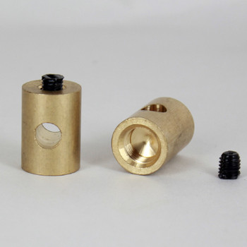 1/8IPS Female Threaded Swag Light Cord Bushing for SVT Type Wire - Unfinished Brass