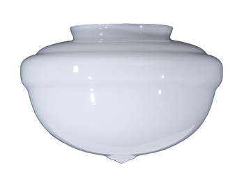 12in Diameter X 9in. High With 6in. Fitter Acorn Shade - Opal White Glass Lamp Shade