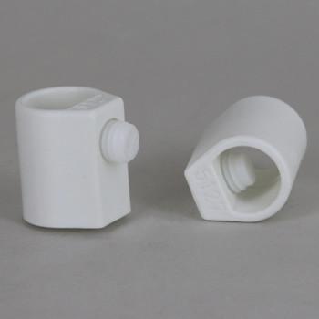 White 1/4ips Female Threaded Strain Relief with Locking Set Screw