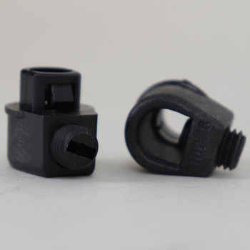 Black 1/8ips Snap In Strain Relief with M7 Threaded Set Screw