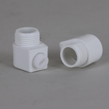 White 1/4ips Male Threaded Strain Relief with Locking Set Screw