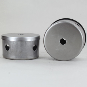 2-1/2in Diameter X 1-1/2in Height 4 Side Hole Unfinished Steel Body with 1/8ips (7/16in) Slip Through Bottom Hole.