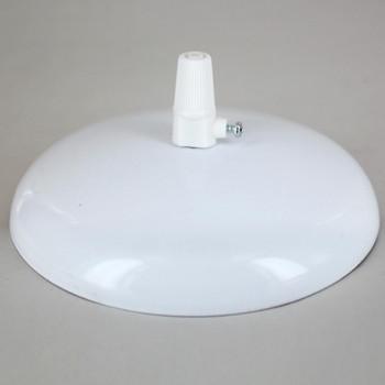 1/8ips (7/16in) Center Hole - Modern Canopy Kit - White Gloss Finish