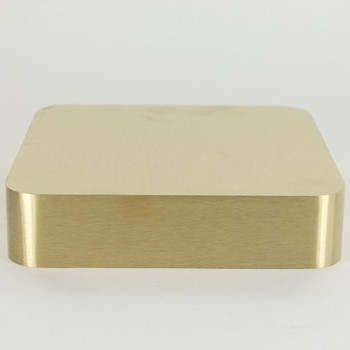 5-3/8n. Square Rounded Edge Cast Brass Canopy/ Backplate