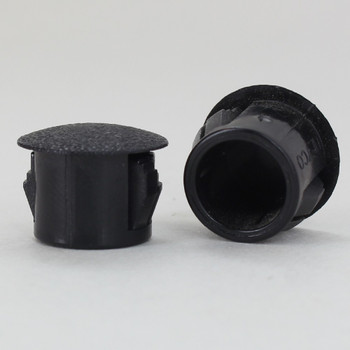 Black 0.437in Multiple Locking Step Dome Plug  for Panel Thickness up to 0.125in. (3.2mm)