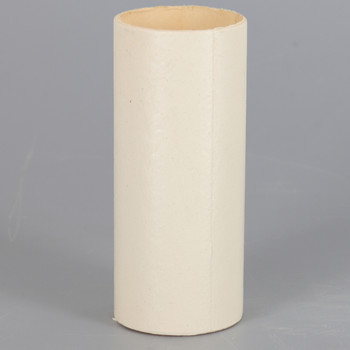 8in. Long X 1-5/16in. Outside Diameter Paper E-26 Base Candle Socket Cover - Edison - Ivory.