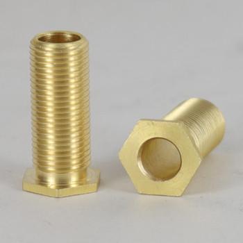 15/16in. Long thread X 1/8-27 ips. Male Threaded Brass Hex Head Nipple