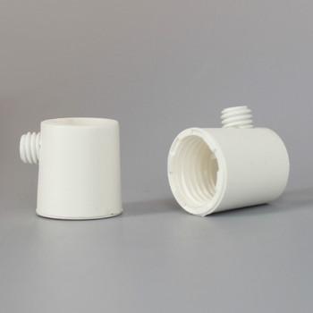 1/4ips Female White Plastic Strain Relief with Set Screw.