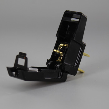 Black - Non-Polarized, Non-Grounding, Easy Lamp Plug for 16/2 SPT-2 and 18/2 SPT-2 Wire