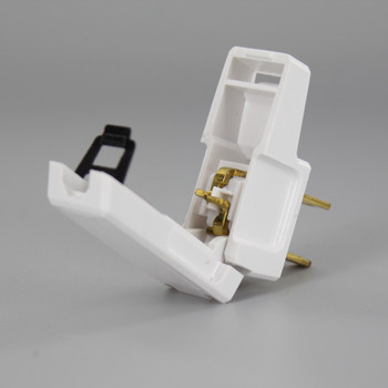 White - Non-Polarized, Non-Grounding, Easy Lamp Plug for 16/2 SPT-2 and 18/2 SPT-2 Wire