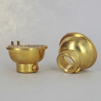 Unfinished Brass 1/4ips. Female Cap. For Use with Cast Turned Sockets.