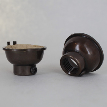 Antique Bronze Finish 1/4ips. Female Cap. For Use with Cast Turned Sockets.