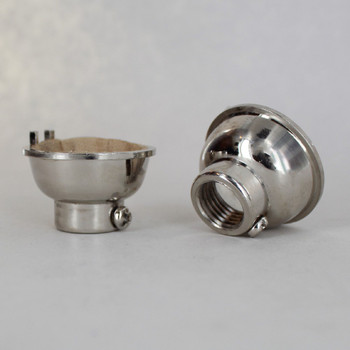 Polished Nickel Finish 1/4ips. Female Cap. For Use with Cast Turned Sockets.