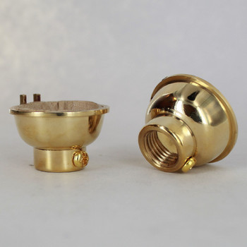 Polished Brass Finish 1/4ips. Female Cap. For Use with Cast Turned Sockets.