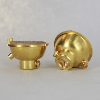 1/8ips. Female Cap with Grounding Terminal - Unfinished Brass