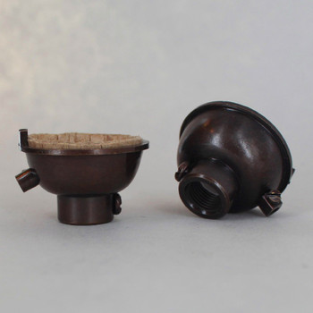 Antique Bronze Finish 1/8ips. Female Cap with Grounding Terminal For Use with Cast Turned Sockets.