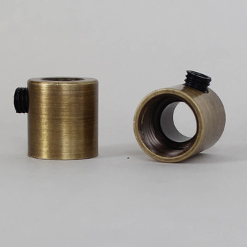 1/4ips. Female Threaded Strain Relief with Nylon Set Screw - Antique Brass
