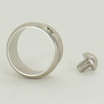 5/8in. Slip Ring with Side Screw - Slips 3/8ips Pipe - Nickel Plated
