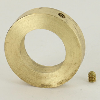 7/8 in Straight Slip Ring With Set Screw - Slips 3/4in Pipe - Unfinished Brass