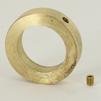 1in Modern Brass Slipring with 8/32 Threaded Set Screw. Slips 1 inch Diameter Rods and Tubes.