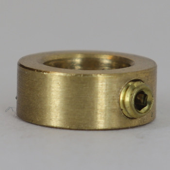 3/8in. Modern Slip Ring with Side Screw- Slips 1/8ips Pipe - Unfinished Brass
