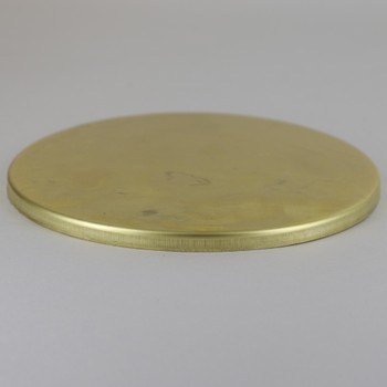 5in Diameter Blank (No Center Hole) Stamped Brass Straight Edge Checkring