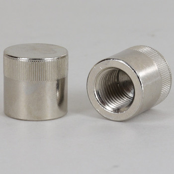 1/4ips - 3/4in x 3/4in Knurled Cylinder Cap - Nickel Plated