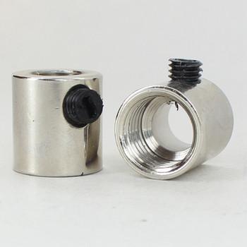 1/4ips. Female Threaded Strain Relief with Nylon Set Screw - Polished Nickel Finish
