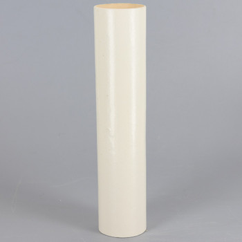 6in. Long X 1-5/16in. Outside Diameter Paper E-26 Base Candle Socket Cover - Edison - Ivory.
