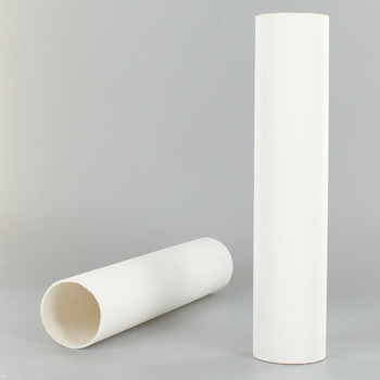 6in. Long X 1-5/16in. Outside Diameter Paper E-26 Base Candle Socket Cover - Edison - White.