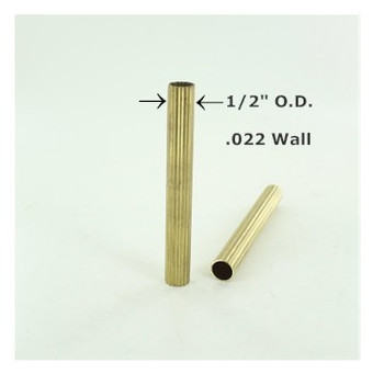 1/2in Reeded Unfinished Brass Tubing